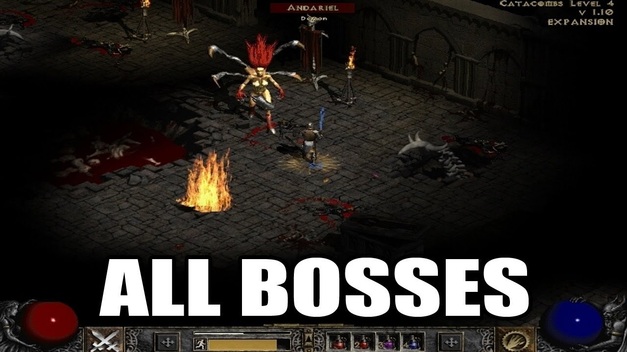 Diablo 2: Lord of Destruction - All Bosses HD 1080p60 PC