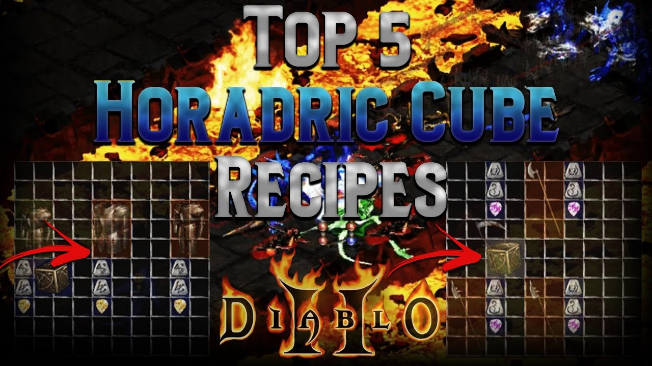 5 Horadric Cube recipes that new Diablo 2 players need to know!!!