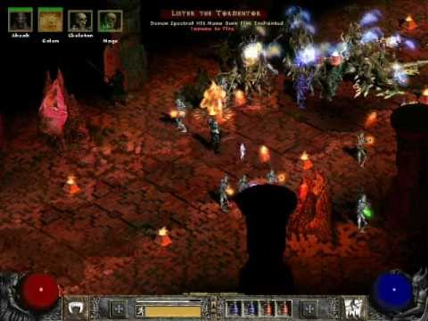 Diablo 2 LoD: Summoner/Magic Find Necromancer Gameplay