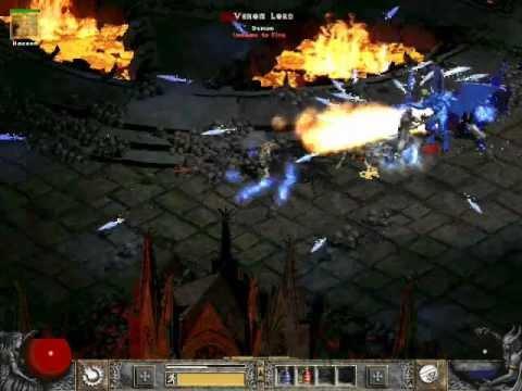 Diablo 2 LoD: MeteOrb Sorceress Gameplay