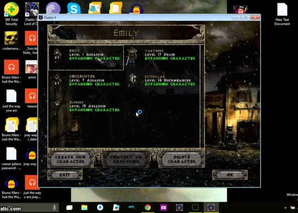 Diablo 2 LOD cheat/glitch level 33 character on act1