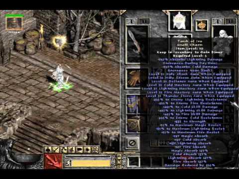 Diablo 2 LOD uber tristram w/ hacked character