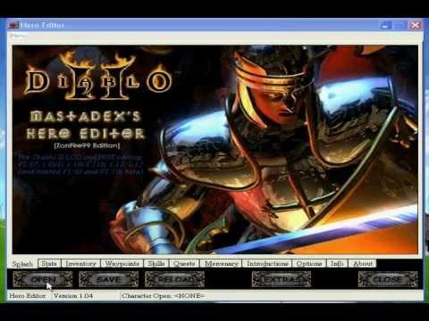 Diablo 2: LoD 2012 Easy Way To Hex Boss Skills With Hero Editor