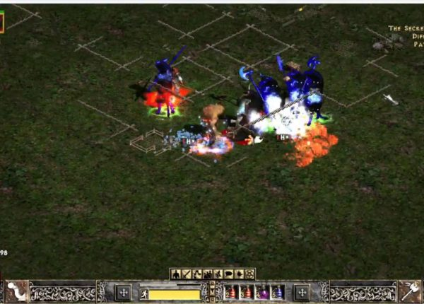 Path of Diablo: Ball lightning Bear Cleave Barb Cow run