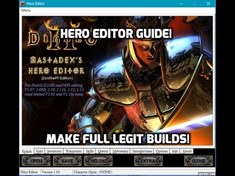 Diablo 2: Hero Editor guide - Make full legit offline characters.