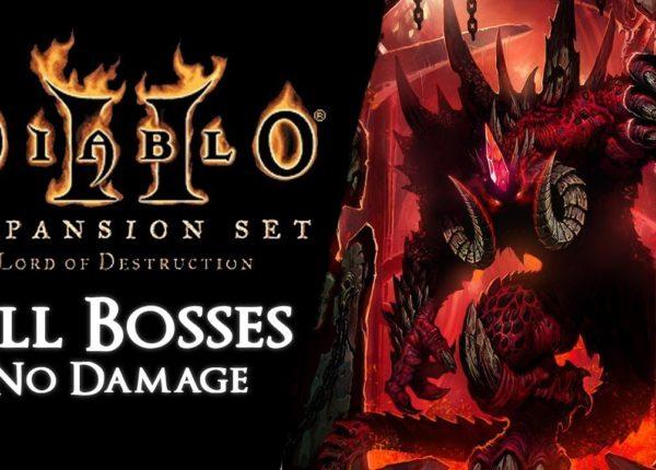 Diablo II: Lord of Destruction - All Super Uniques as Sorceress【No Damage, Mercenary, Portals】