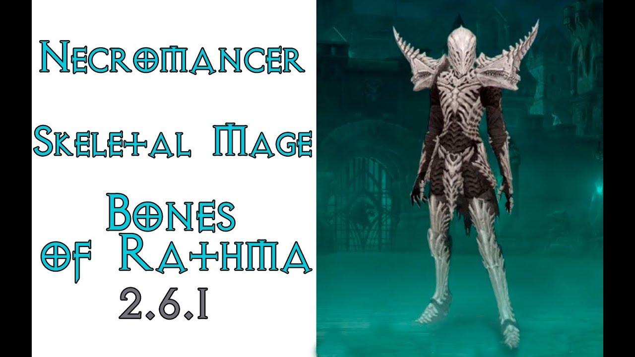 Diablo 3: некромант петовод Скелет-Маг в сете Кости Ратмы 2.6.1