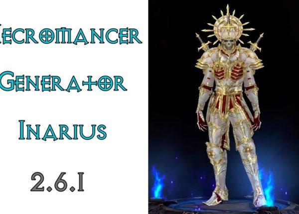 Diablo 3: некромант генератор в сете Милость Инария 2.6.1