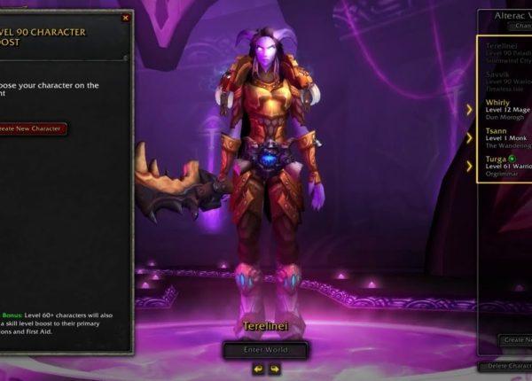 Мгновенное повышение уровня персонажа в World of Warcraft до 90