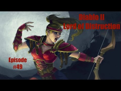 Diablo 2 LOD Amazon Bowazon Walkthrough - Part 49: Act 5 Boss Baal [Normal Difficulty]