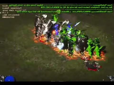 Diablo 2 LOD: Teh Cow Level Gameplay(MOOOO MOO MOO!!!!!!!)