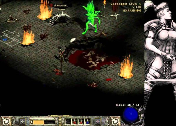 Diablo 2 LOD Amazon Bowazon Walkthrough - Part 13: Act 1 Boss Andariel