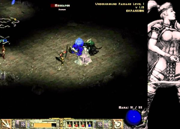 Diablo 2 LOD Amazon Bowazon Walkthrough - Part 6: The Underground Passage