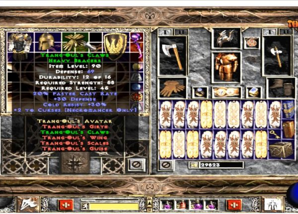 Diablo 2 Fury Within Barbarian full cham vs all strongest Bosses
