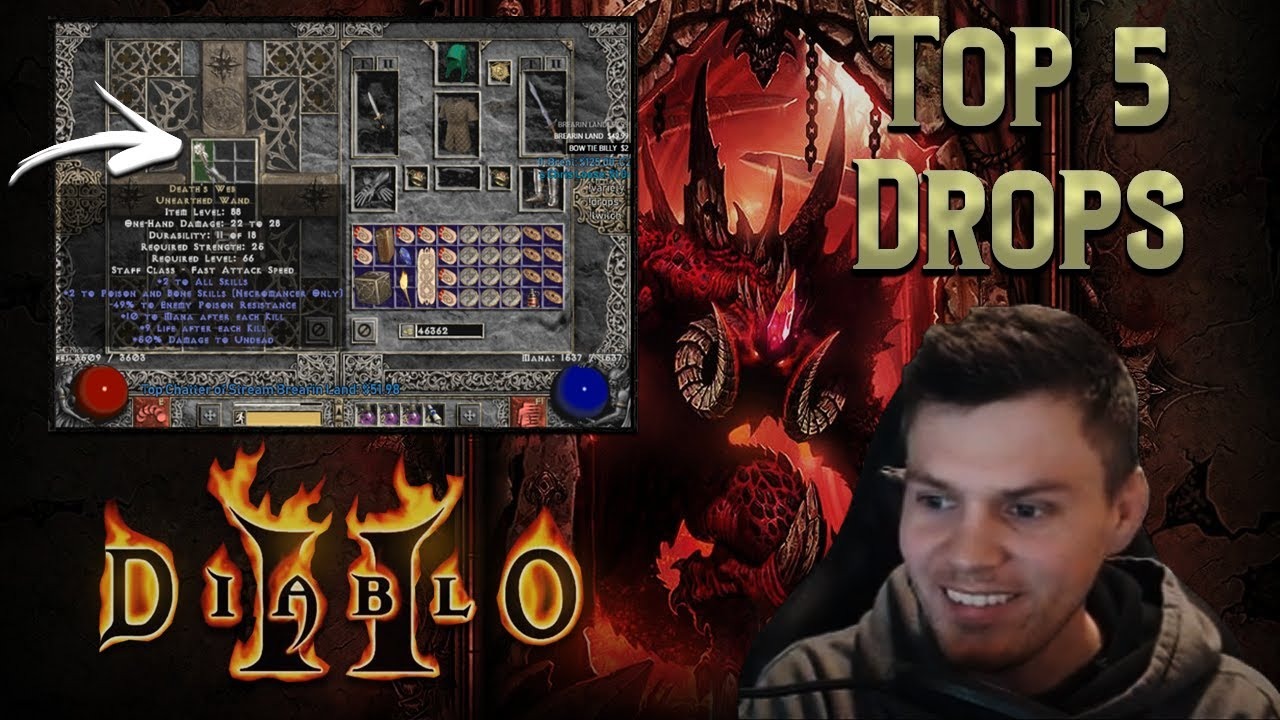 Diablo 2 - My TOP 5 Drops live 2019 ( Second 1/2 of the year) !!! - Crazy Single Player RNG