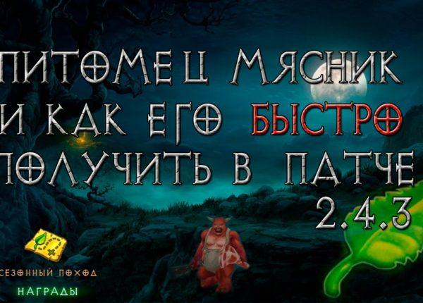 Diablo 3: питомец мясник и как его быстро получить