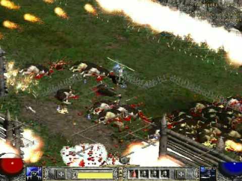 Diablo 2 - Median 2008 - Cow Level - sorceress