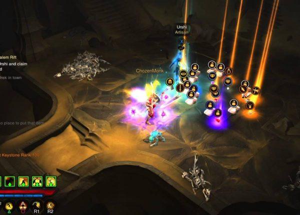 [PS4]Diablo III: Reaper of Souls GRift 100 Solo Cleared in 57 Seconds