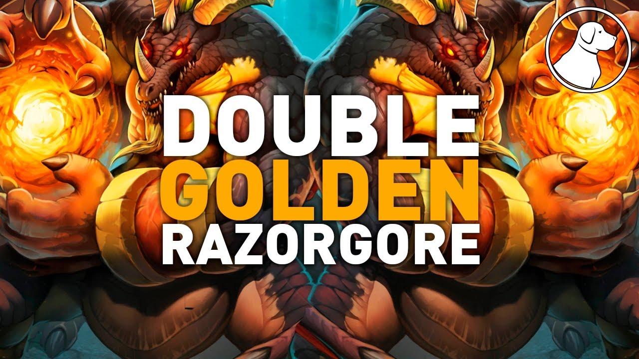 Double Golden Razorgore | Dogdog Hearthstone Battlegrounds