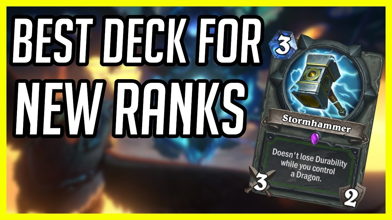 (Hearthstone) Best Deck to Climb the New Rank System | Aggro Dragon Hunter | Descent of Dragons