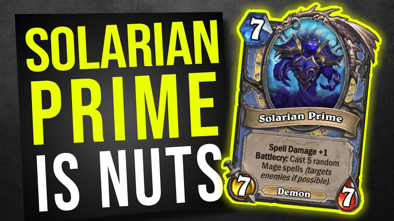 SOLARIAN PRIME IS NUTS! | Hearthstone Ashes of Outland