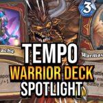 TEMPO WARRIOR DECK SPOTLIGHT!   Tempo Storm Hearthstone [Ashes of Outland]
