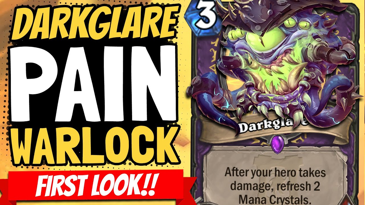 WINNING TURN 2!! Pain Warlock & Darkglare Are Actually Absurd! | Ashes of Outland | Hearthstone