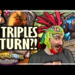 6 TRIPLES IN ONE TURN?! - Hearthstone Battlegrounds