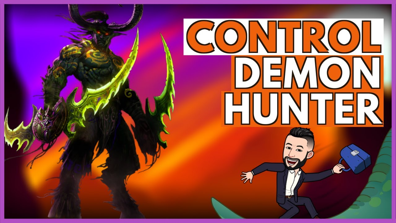 CONTROL DEMON HUNTER Deck & Guide & Gameplay | ASHES OF OUTLAND | HEARTHSTONE | SUBTITLE |%55 | META