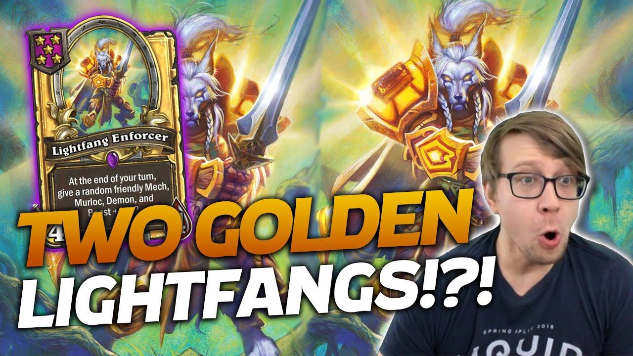 DOUBLE GOLDEN LIGHTFANG DOMINATION!   Hearthstone Battlegrounds   Savjz