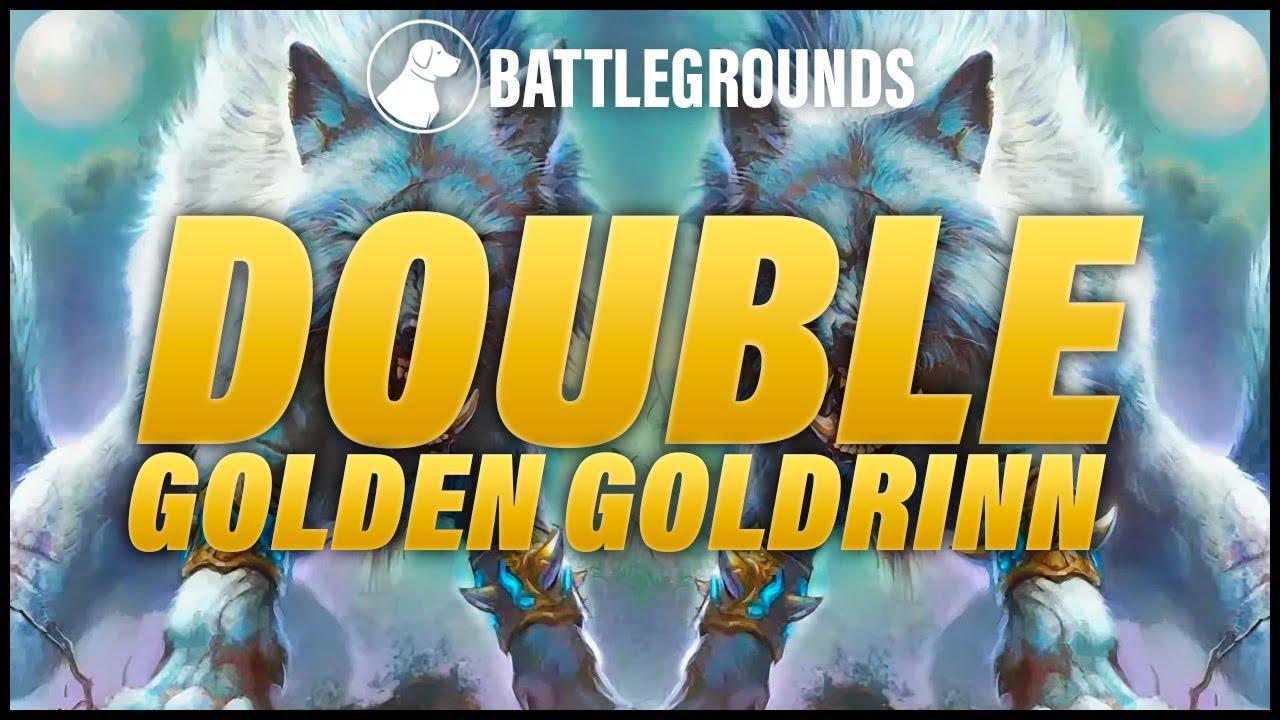 Double Golden Goldrinn   Dogdog Hearthstone Battlegrounds