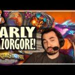 EARLY RAZORGORE = GO DRAGONS! - Hearthstone Battlegrounds
