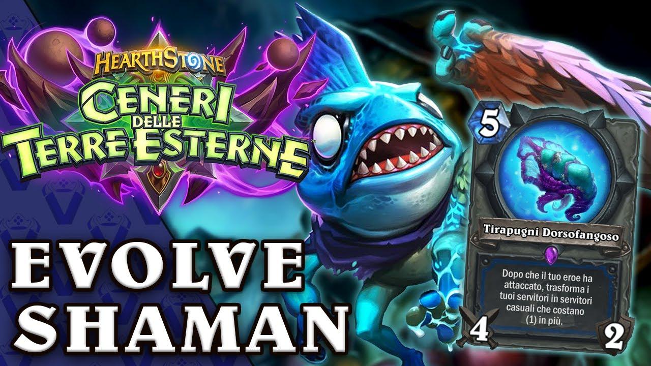 Evolve Shaman 100% WINRATE: Allarme Toxic Meta! CENERI DELLE TERRE ESTERNE!   Hearthstone Ita