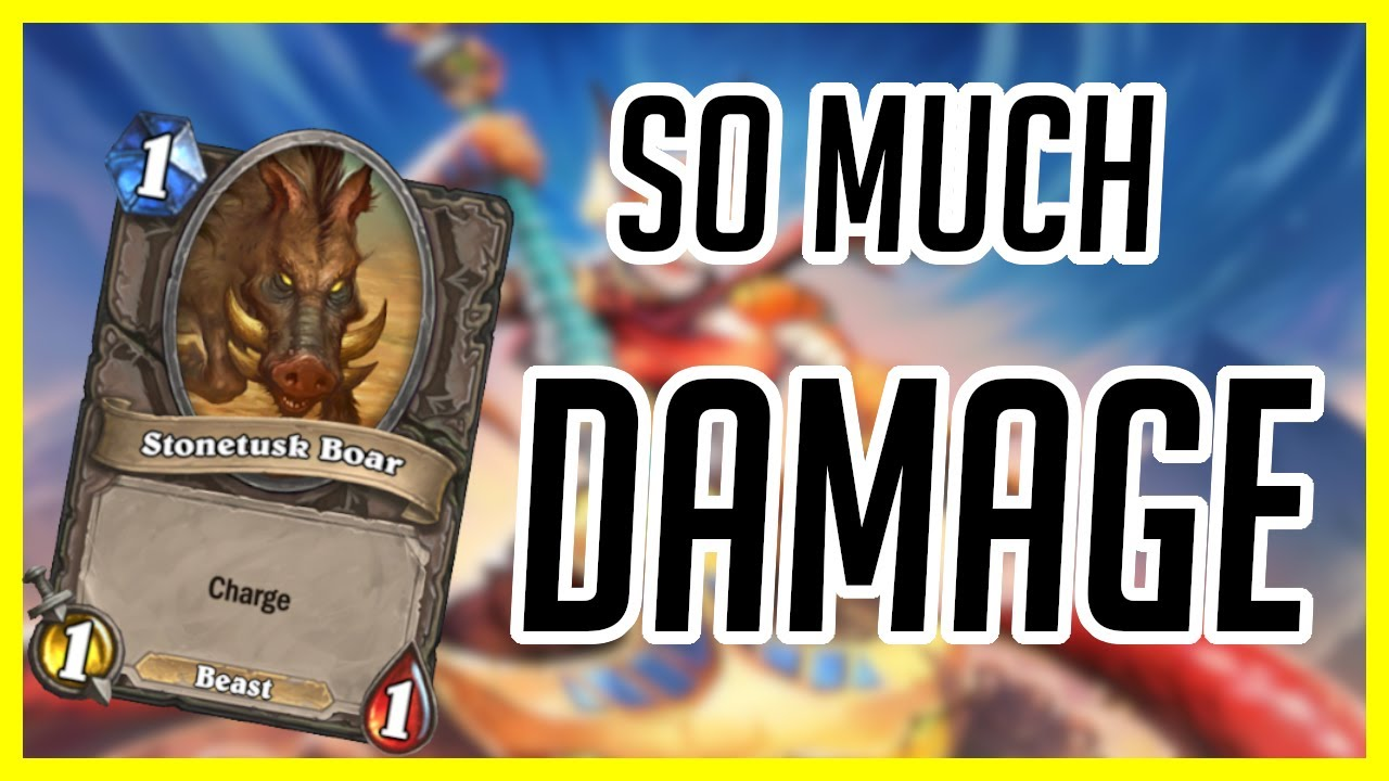(Hearthstone) Boar Hunter OTK   This Deck Does SO MUCH Damage   Ashes of Outland