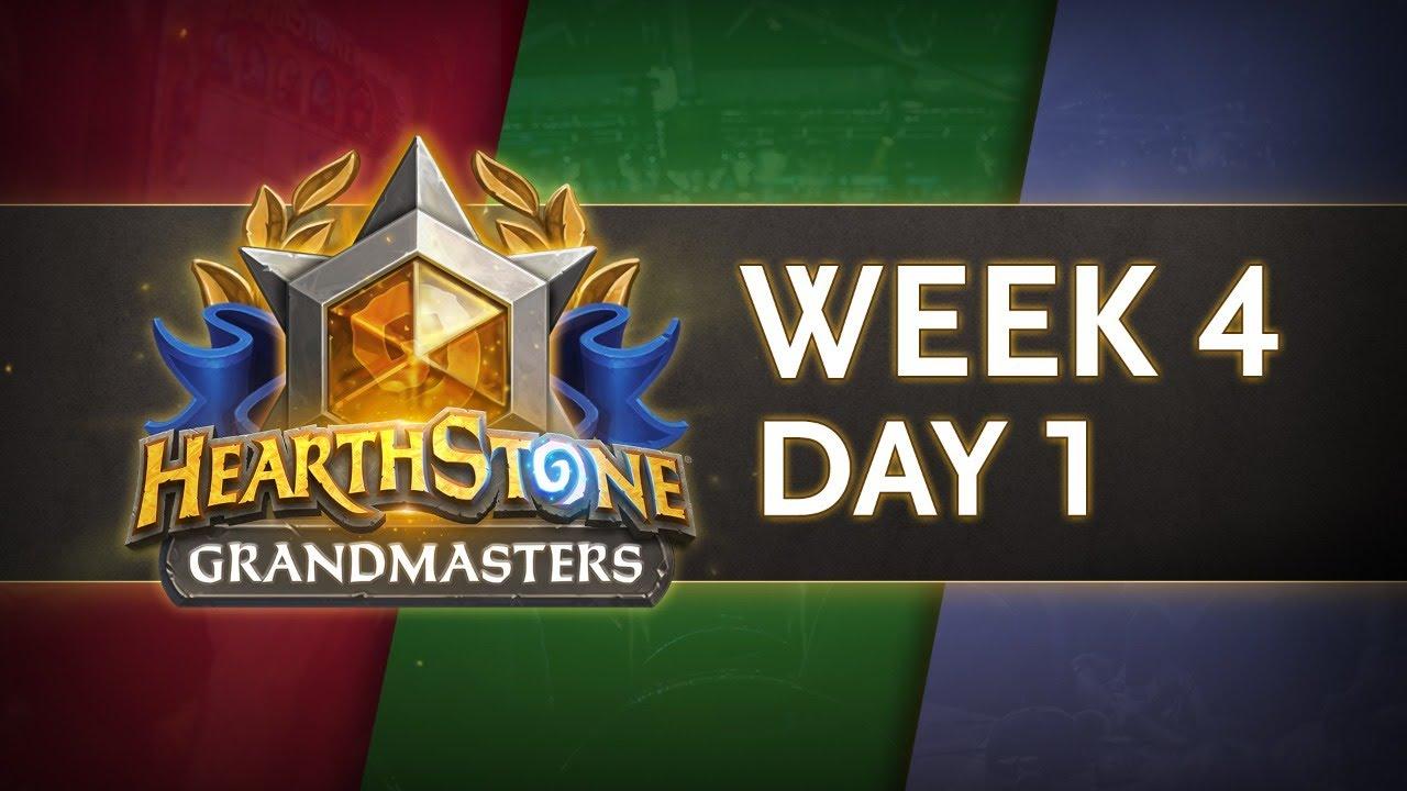 Hearthstone Grandmasters Season 1 Week 4 Day 1