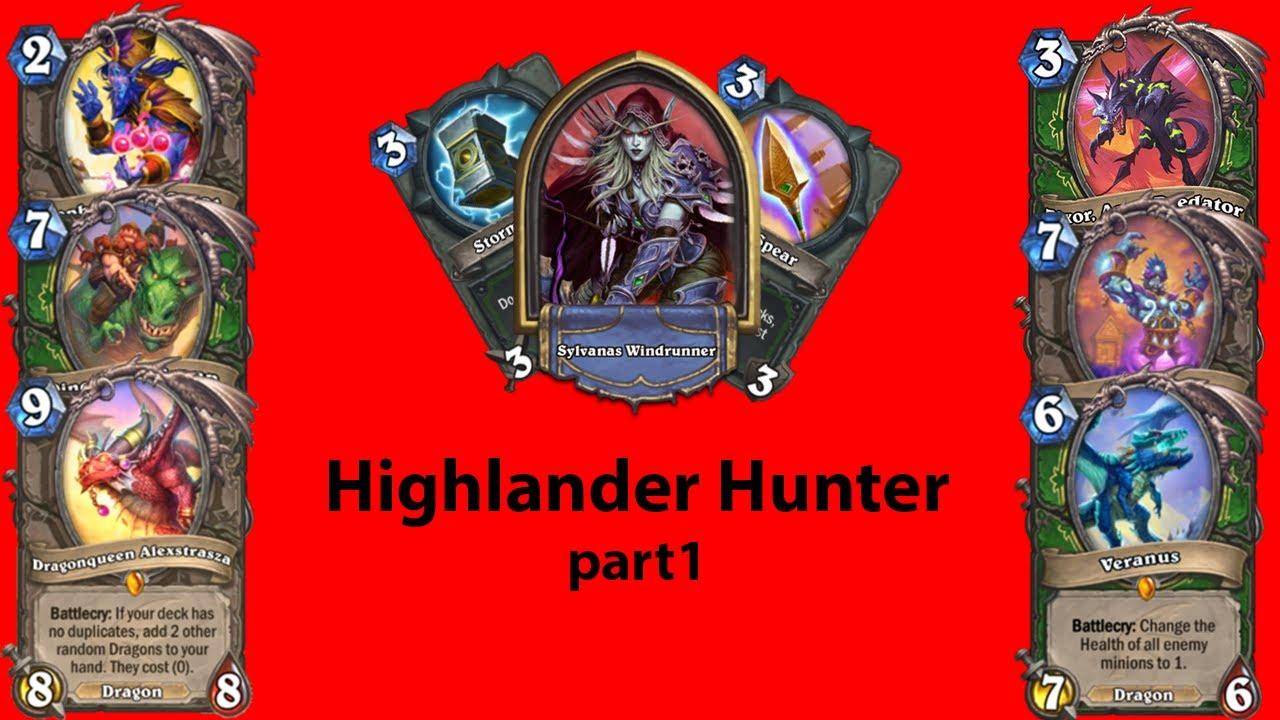 Highlander Hunter part1: THIS DECK IS SUPER OP!!!  Standard Ladder   Hearthstone Guide  Hunter Guide