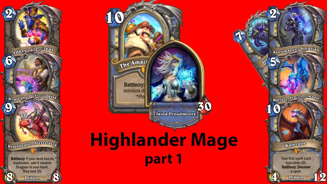 Highlander Mage part1: THIS DECK IS HARD!!!   Standard Hearthstone Guide   Mage Guide