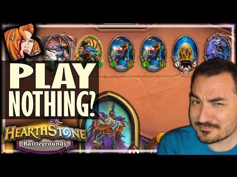 PLAY NOTHING = FIRST PLACE! - Hearthstone Battlegrounds