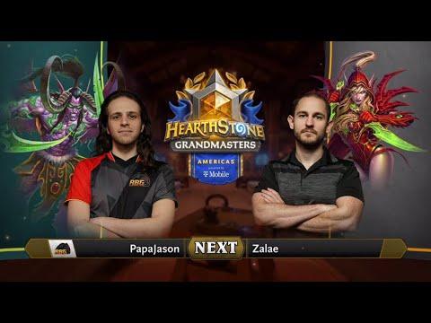 PapaJason vs Zalae - Division B - Hearthstone Grandmasters Americas 2020 Season 1 - Week 4