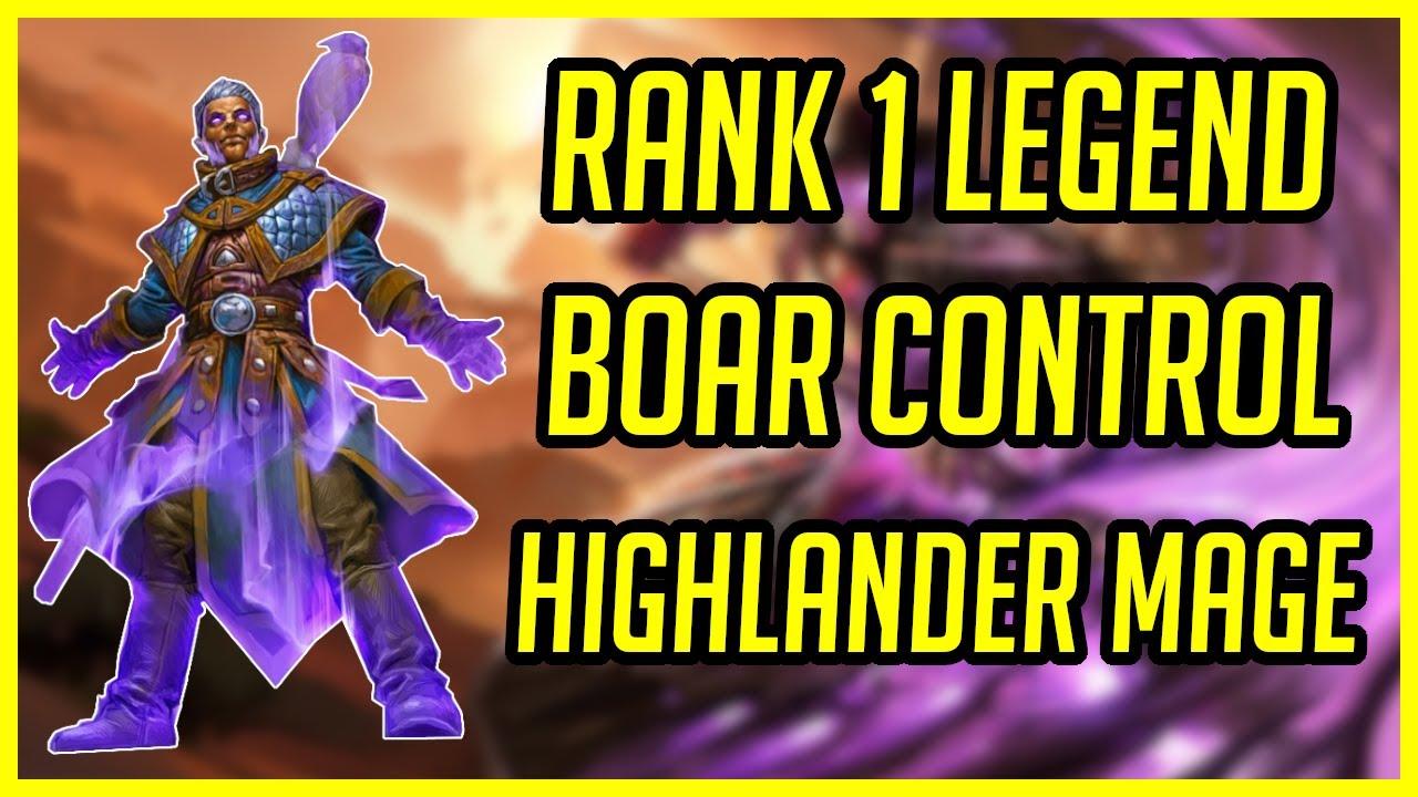 Rank 1 Legend Boar Control's Deck |  Hearthstone Highlander Mage | Ashes of Outland