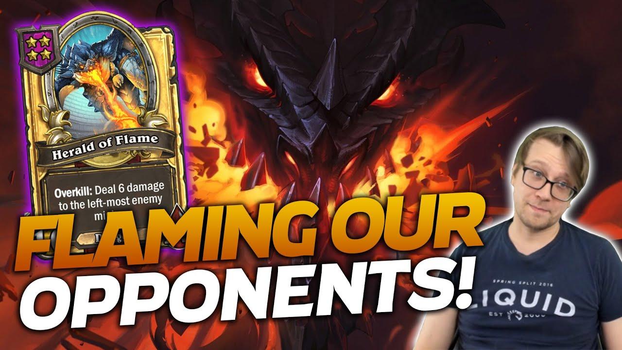 Savjz is Flaming His Opponents! | Hearthstone Battlegrounds | Savjz