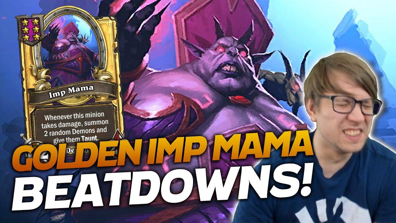 Shifter into Golden Imp Mama Gave a Beatdown!   Hearthstone Battlegrounds   Savjz