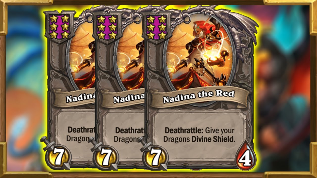Triple Nadina Huge Dragons   Destroying The Competition! Battlegrounds   Hearthstone