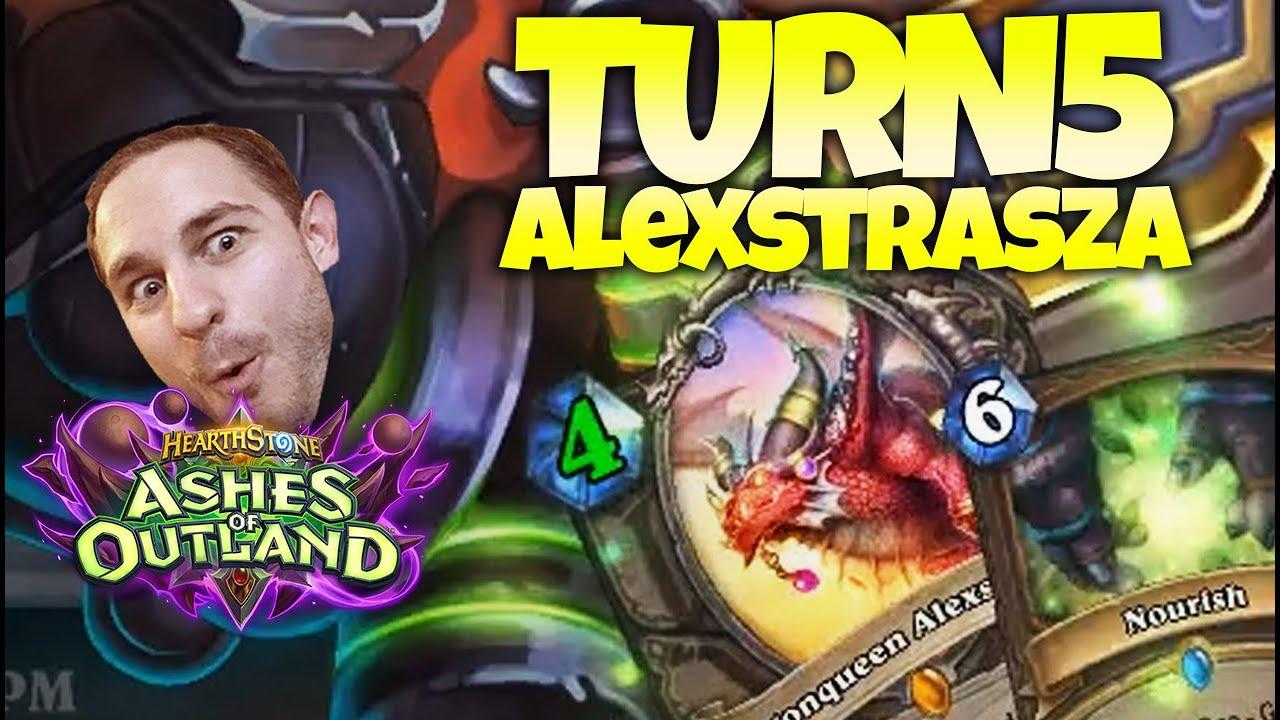 Turn 5 Dragonqueen Alexstrasza...Good Luck ft. Purple & Gallon | Zalae Hearthstone