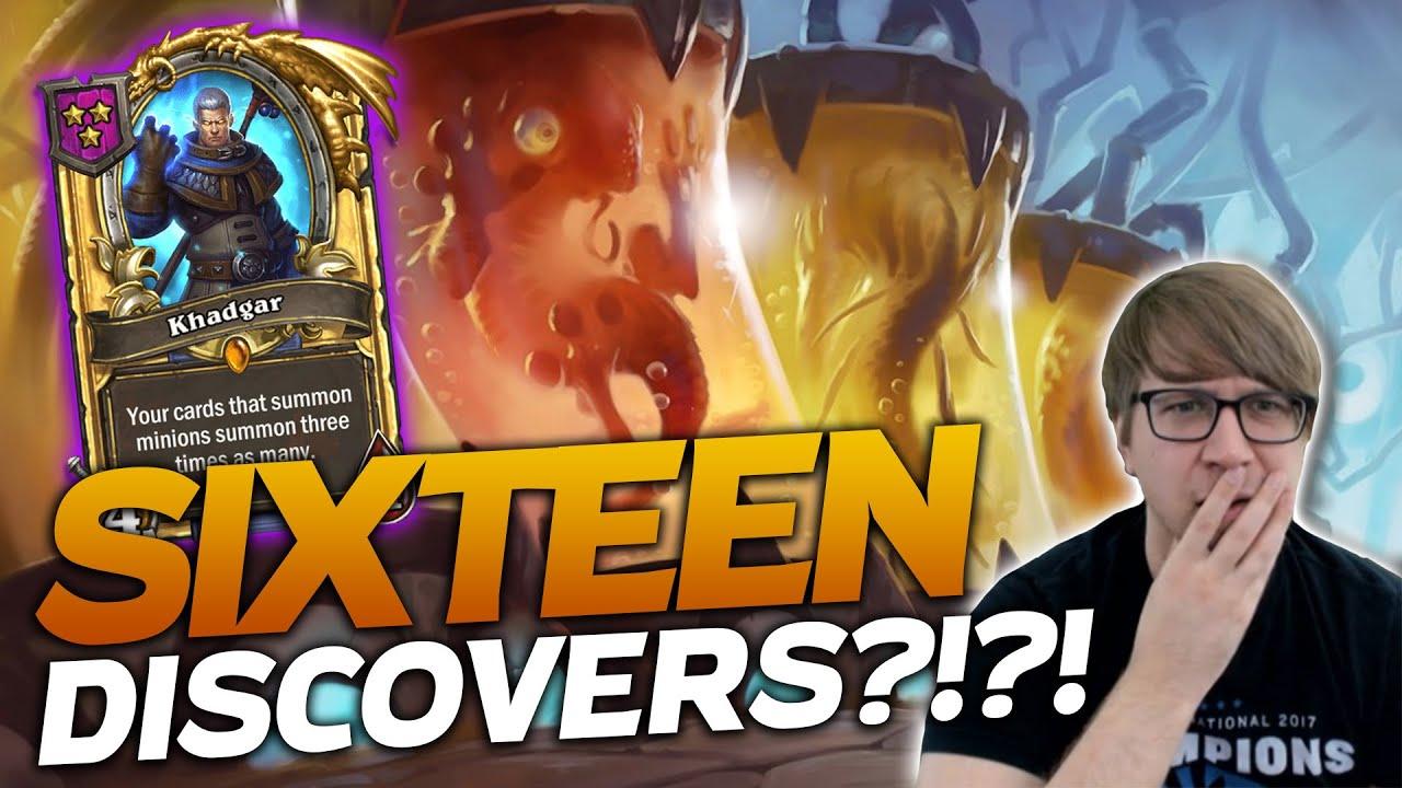 WE GOT SIXTEEN DISCOVERS!!! My Favorite Combo! | Hearthstone Battlegrounds | Savjz